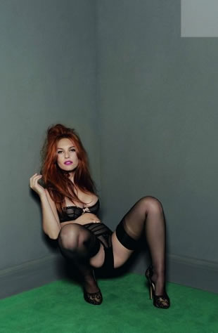 Josephine de la Baume In Sexy Agent Provocateur Photoshoot