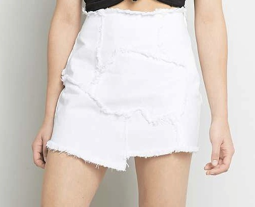 Light Before Dark Raw Edge Patched Mini Skirt £49.00 urbanoutfitters.com