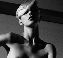 Anja Rubik Topless Black and White Shoot in Industrie Magazine September 2013