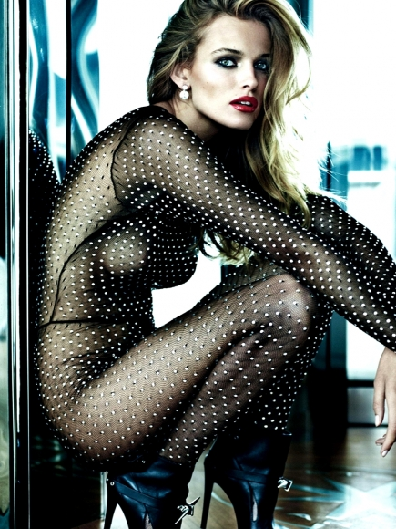 Edita Vilkeviciute and Anja Rubik Topless in Vogue Paris October 2013