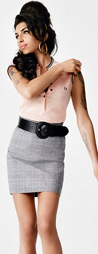 Amy Winehouse Models Elegant New Fred Perry Collection