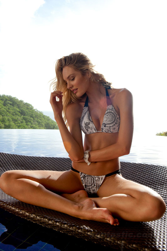 Candice Swanepoel Sauvage Bikini Photoshoot
