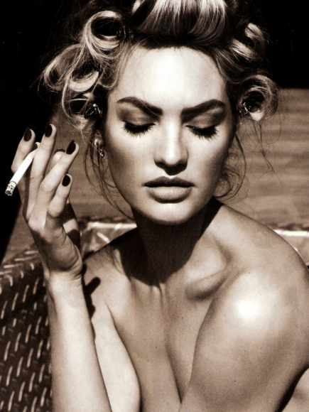 Candice Swanepoel Covered Topless in Vogue Spain April 2013