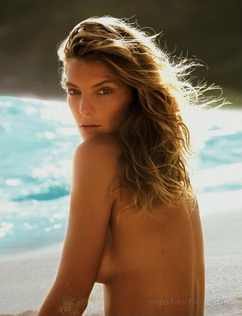 Daria Werbowy Topless For Madame Figaro Magazine
