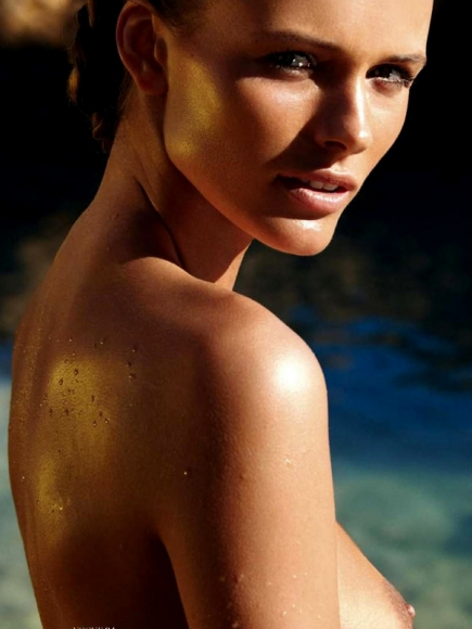 Edita Vilkeviciute Topless in Vogue France May 2013