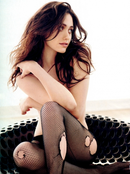 Emmy Rossum Covered Topless in Esquire Magazine January 2014