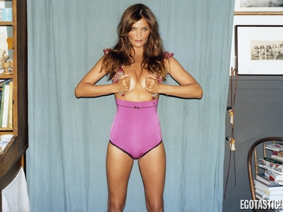Helena Christensen Topless in Futureclaw Magazine Summer 2013