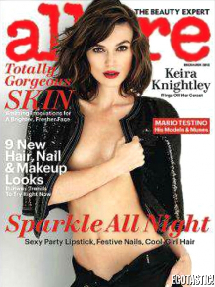 Keira Knightley Covered Topless Shoot in Allure UK December 2012