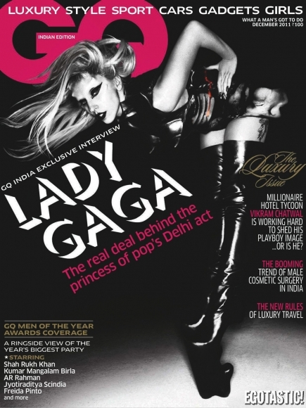Lady Gaga (Covered Topless) In GQ India