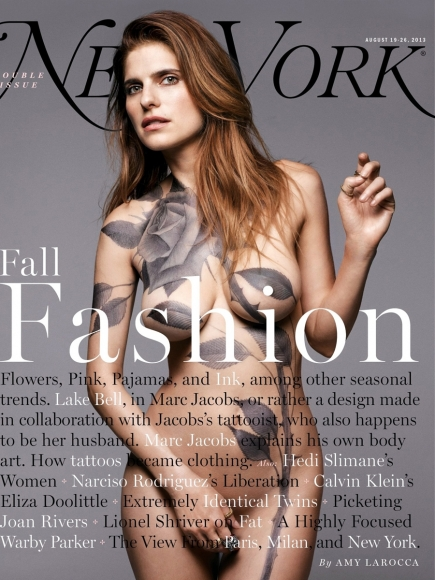 Lake Bell Naked Covered in Paint for New York Magazine