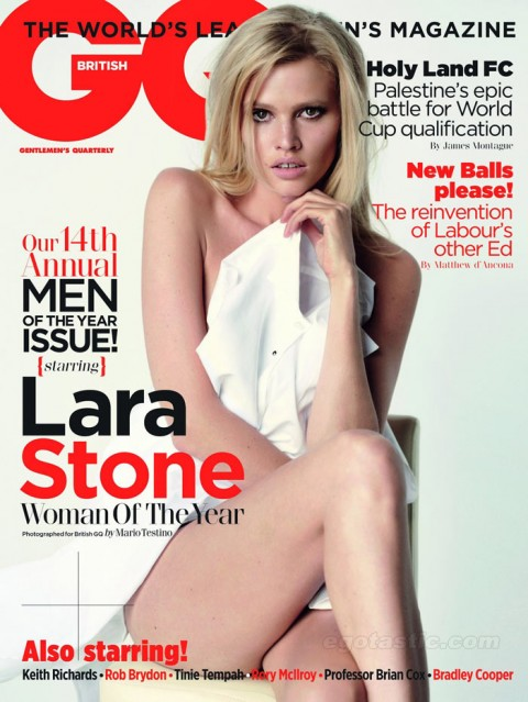 Lara Stone in GQ UK