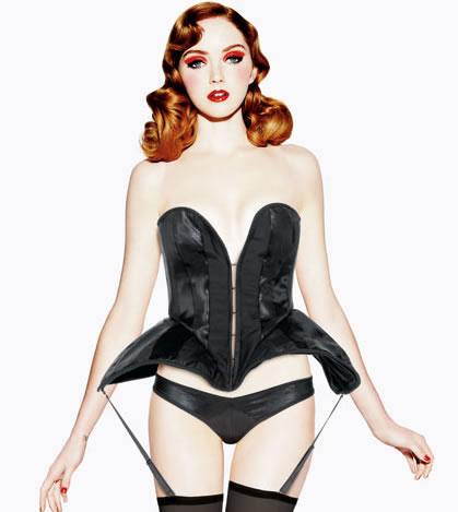 Lily Cole Models Lingerie for '11 Triumph Inspiration Award