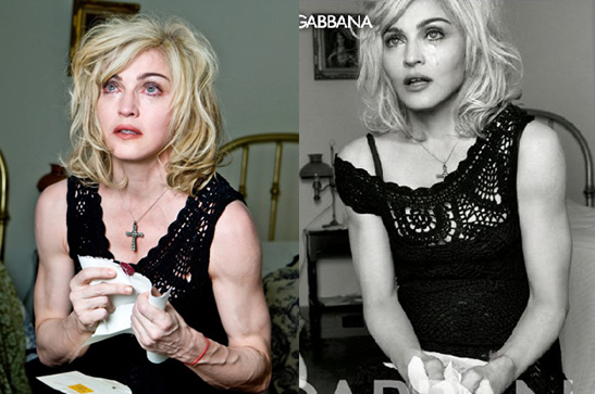 Photos Of Madonna's Pre-Photoshop Cleavage And Arms For Dolce And Gabbana