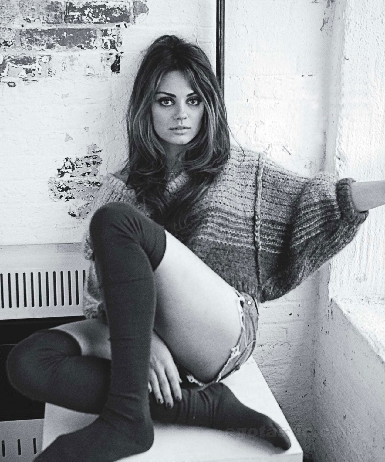 Mila Kunis Photoshoot For Nylon Magazine Is Hot in Black and White