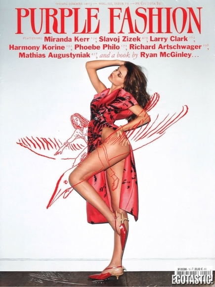 Miranda Kerr Shows Her Bare Bottom for Purple Magazine