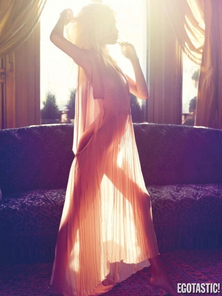 Natasha Poly Topless for Vogue France June 2012 Photoshoot (Editor Notes Nudity)