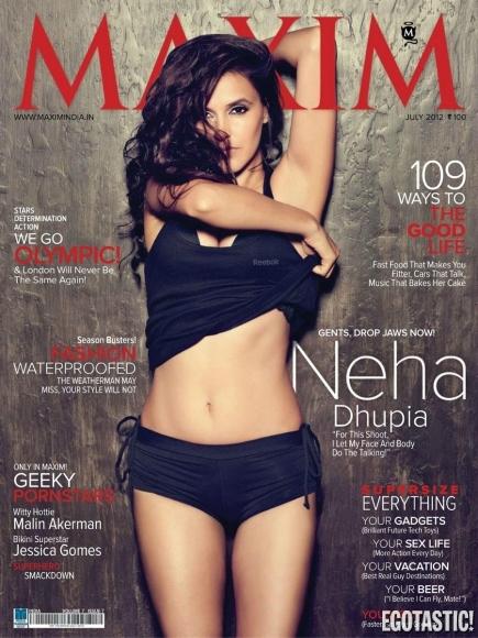 Neha Dhupia Sizzles Bollywood Style in Maxim