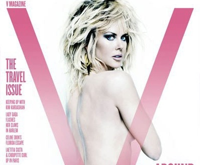 Nicole Kidman Bares Almost All On The Cover of V Magazine