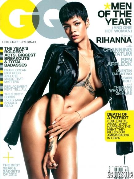 Rihanna Covered Naked for GQ Magazine Cover December 2012