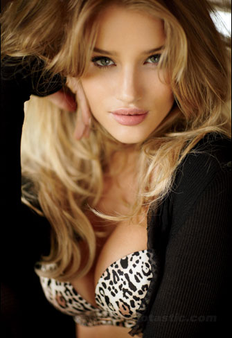 Rosie Huntington-Whiteley In Maxim Lingerie Shoot