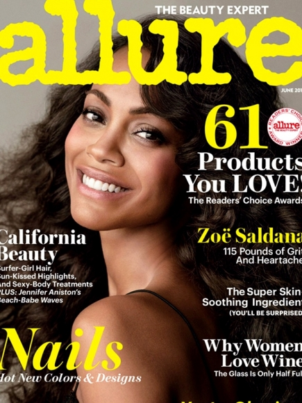 Zoe Saldana Covered Naked for Allure June 2013