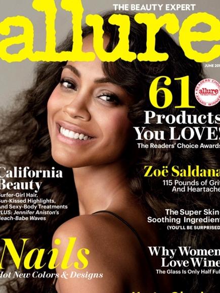 Zoe Saldana Covered Naked for Allure June 2013